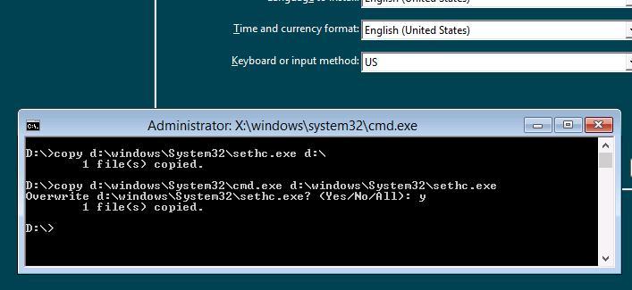 командная строка - Как взломать пароль windows 8