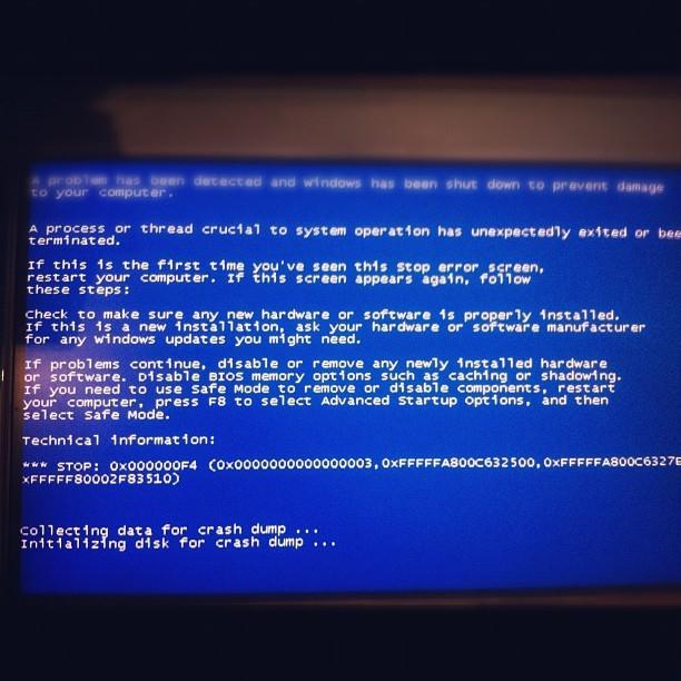 0x000000f4 windows 7 – как исправить?