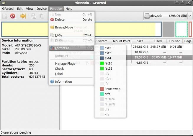 Работа с программой удаления обновления Windows 10 GParted