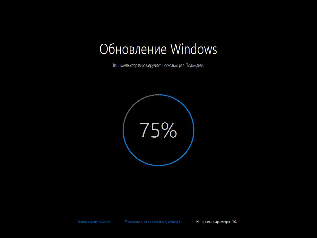 Завершающий этап обновления до Windows 10