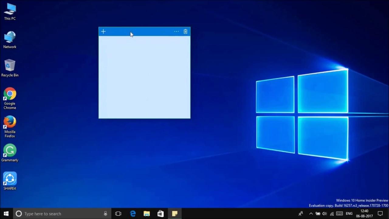 Заметки в Windows 10 можно делать разного размера и перемещать по рабочему столу